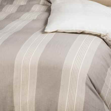 Rizzy Home Stripe Duvet Cover - King in Grey/Ivory - Closeouts