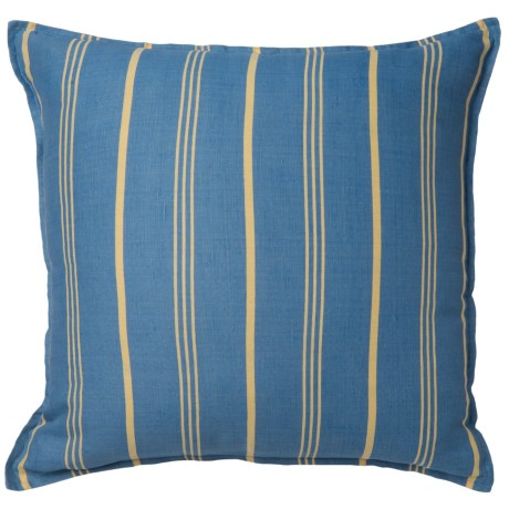 "Rizzy Home Striped Decor Pillow - 18x18"" in Blue/ Yellow Stripe"