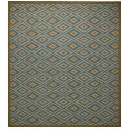 Rizzy Home Swing Area Rug - 8x10', Dhurrie Wool in Blue/Tan - Closeouts