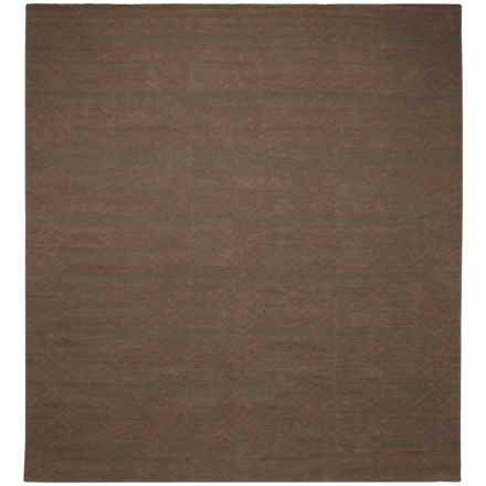 Rizzy Home Swing Area Rug - 8x10', Dhurrie Wool in Brown/Terracotta - Closeouts