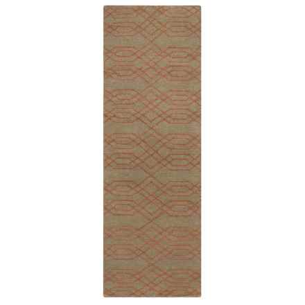 "Rizzy Home Swing Floor Runner - 2'6""x8', Handwoven Dhurrie Wool in Brown/Terracotta - Closeouts"