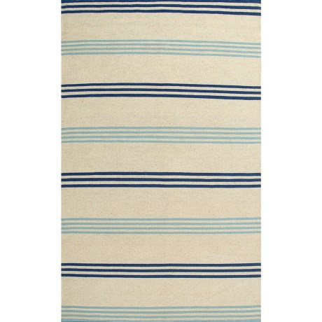 Rizzy Home Swing Stripe Area Rug 5x8 Dhurrie Wool