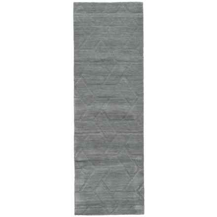 "Rizzy Home Technique Floor Runner - Wool, 2'6""x8' in Light Grey - Closeouts"