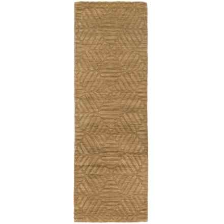 "Rizzy Home Technique Floor Runner - Wool, 2'6""x8' in Taupe - Closeouts"