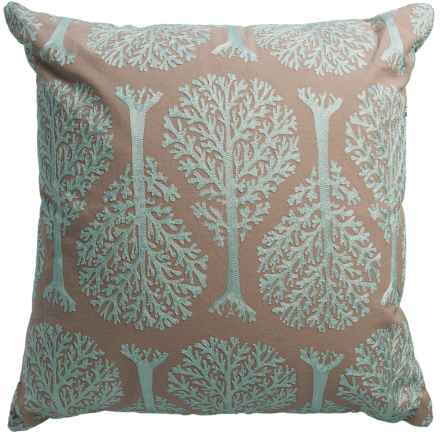 "Rizzy Home Tree Decor Pillow - 20x20"" in Sage/Tan - Closeouts"