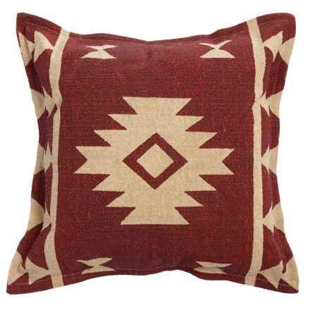 "Rizzy Home Triangle Print Decor Pillow - 26x26"" in Red/Cream - Closeouts"