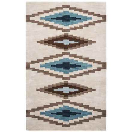Rizzy Home Tumbleweed Area Rug - 5x8', Hand-Tufted Wool in Beige Diamond - Closeouts