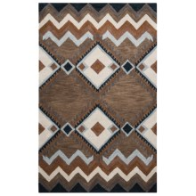 Rizzy Home Tumbleweed Area Rug - 5x8', Hand-Tufted Wool in Brown Diamond - Closeouts