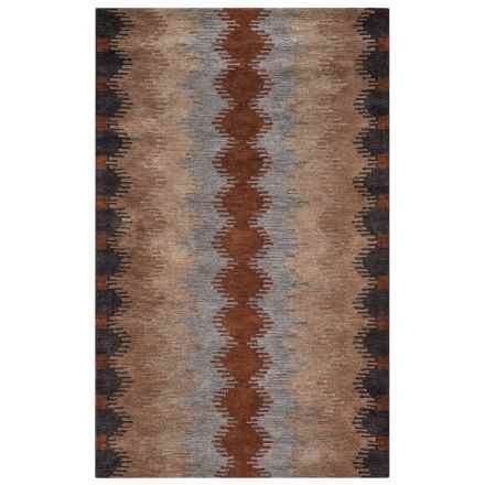 Rizzy Home Tumbleweed Loft Accent Rug - 8x10', Hand-Tufted Wool in Multi Stripe - Closeouts