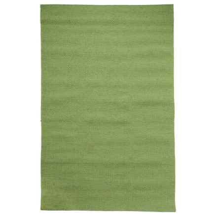 Rizzy Home Twist Area Rug - 5x8', Hand-Woven Wool in Green - Closeouts
