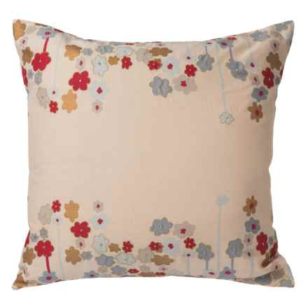 "Rizzy Home Upside Down Stitched Floral Throw Pillow - 20"" in Multi - Closeouts"