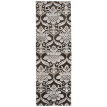 "Rizzy Home Vanguard Floor Runner - Wool, 2'6""x8' in Graphite - Overstock"