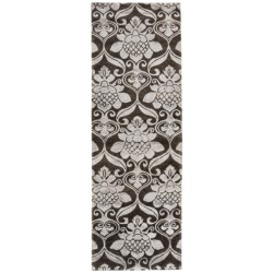 "Rizzy Home Vanguard Floor Runner - Wool, 2'6""x8' in Graphite"