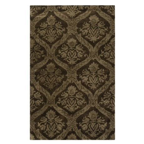 Rizzy Home Volare Area Rug - 5x8', Hand-Tufted Wool in Brown