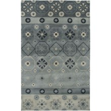 Rizzy Home Volare Area Rug - 5x8', Hand-Tufted Wool in Gray - Closeouts