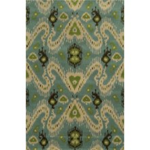 Rizzy Home Volare Area Rug - 5x8', Hand-Tufted Wool in Light Blue - Closeouts