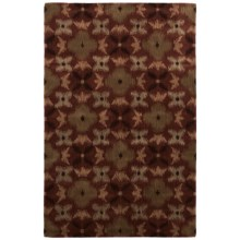 Rizzy Home Volare Area Rug - 5x8', Hand-Tufted Wool in Rust - Closeouts