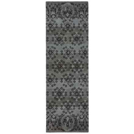 """Rizzy Home Volare Floor Runner - 2'6""""x8', Hand-Tufted Wool in Blue - Closeouts"""
