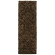 "Rizzy Home Volare Floor Runner - 2'6""x8', Hand-Tufted Wool in Brown - Closeouts"
