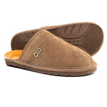 RJ'S Fuzzies Sheepskin Rj's Fuzzies Sheepskin Scuff Slippers - Suede (For Men) in Chestnut - Closeouts