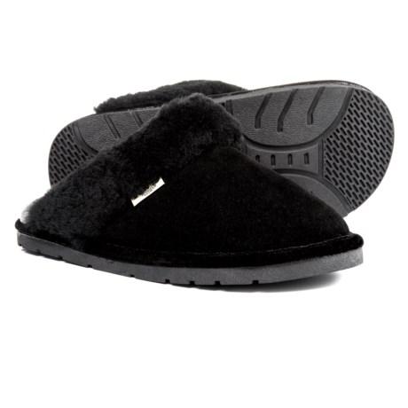RJ'S Fuzzies Sheepskin Scuff Slippers - Suede (For Women)