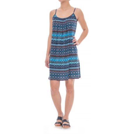 RMLL Print Tank Dress - Spaghetti Straps (For Women) in Blue Multi