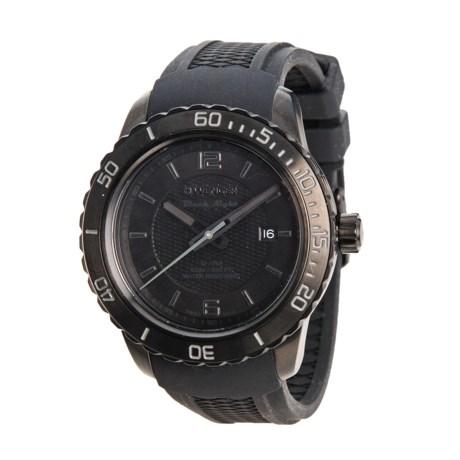 Roadster Black Night Watch - 45mm, Silicone Strap (For Men) - BLACK/BLACK ( )