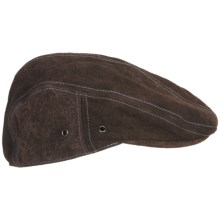 Robert Graham Atlantic Driving Cap - Leather (For Men) in Brown - Closeouts