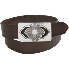 Robert Graham Awondo Belt - Leather (For Men) in Dark Brown - Closeouts