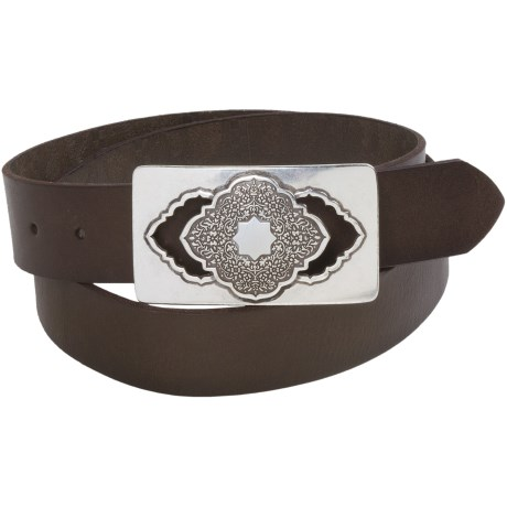 Robert Graham Awondo Belt - Leather (For Men) in Dark Brown