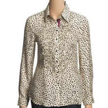 Robert Graham Cosmic Silk Jacquard Shirt - Long Sleeve (For Women) in Cream - Closeouts