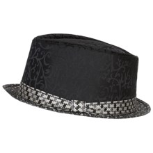 Robert Graham Dandelion Fedora Hat - Silk (For Men) in Black - Closeouts