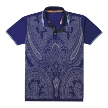 Robert Graham Dynamite Abstract Paisley Polo Shirt - Short Sleeve (For Men) in Blue - Closeouts