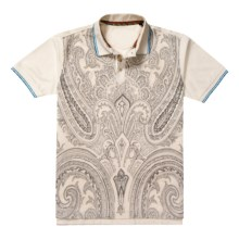 Robert Graham Dynamite Abstract Paisley Polo Shirt - Short Sleeve (For Men) in White - Closeouts