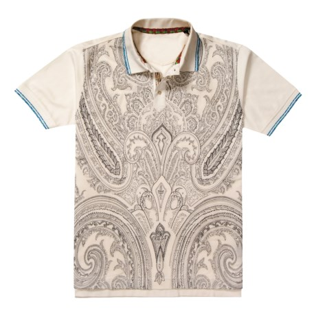 Robert Graham Dynamite Abstract Paisley Polo Shirt - Short Sleeve (For Men) in White