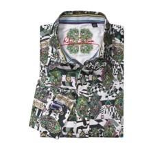 Robert Graham Extempo Sport Shirt - Long Sleeve (For Men) in White/Black - Closeouts