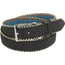 Robert Graham Hoople Belt - Suede (For Men) in Black - Closeouts