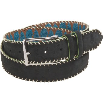 Robert Graham Hoople Belt - Suede (For Men) in Black
