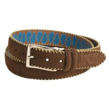 Robert Graham Hoople Belt - Suede (For Men) in Brown - Closeouts