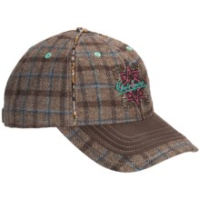 Robert Graham Loos Plaid Baseball Cap - Wool-Silk (For Men) in Khaki - Closeouts