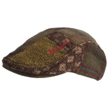 Robert Graham Wyatt Patchwork Driving Cap - Silk-Wool (For Men) in Brown - Closeouts