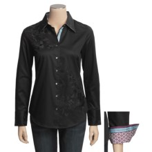 Robert Graham Zen Shirt - Stretch Cotton, Long Sleeve (For Women) in Black - Closeouts