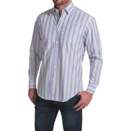 Robert Talbott Anderson Chest Pocket Sport Shirt - Cotton, Long Sleeve (For Men) in Hibiscus - Closeouts