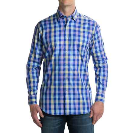 Robert Talbott Anderson Classic Fit Sport Shirt - Cotton, Long Sleeve (For Men) in Blueberry/Lilac - Closeouts