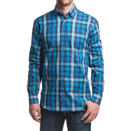 Robert Talbott Anderson Classic Fit Sport Shirt - Cotton, Long Sleeve (For Men) in Maui Blue/Sky/Navy - Closeouts