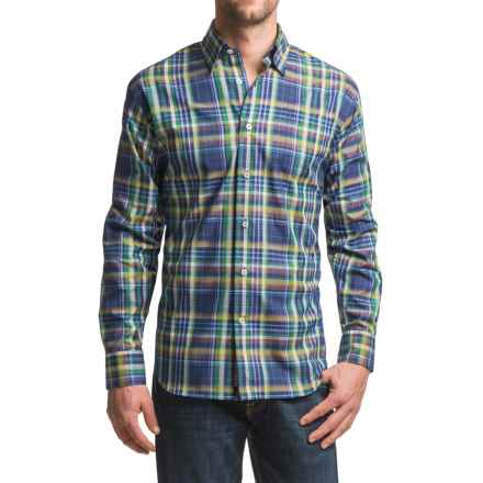 Robert Talbott Anderson Classic Fit Sport Shirt- Long Sleeve (For Men) in Royal/Green Plaid - Closeouts