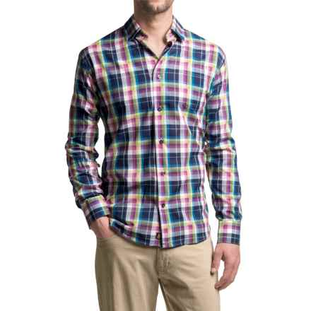 Robert Talbott Anderson French Front Sport Shirt - Cotton, Long Sleeve (For Men) in Purple Plaid - Closeouts