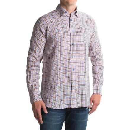Robert Talbott Anderson II Plaid Sport Shirt - Linen, Long Sleeve (For Men) in Orange Multi - Closeouts
