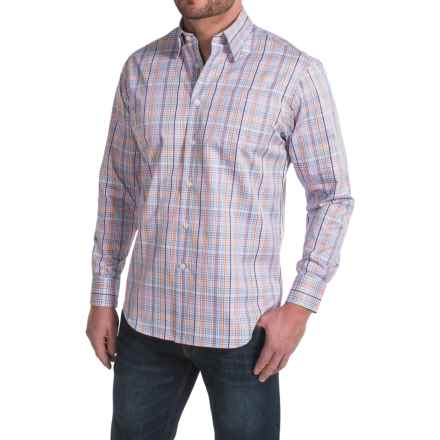 Robert Talbott Anderson Micro-Check Sport Shirt - Cotton, Long Sleeve (For Men) in Lilac - Closeouts