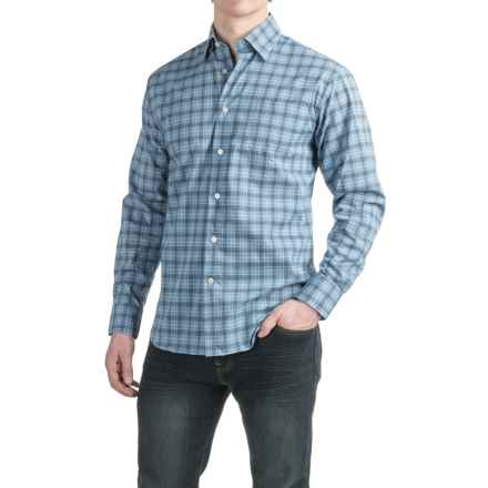 Robert Talbott Anderson Plaid Sport Shirt - Classic Fit, Cotton, Long Sleeve (For Men) in Maritimeglen - Closeouts